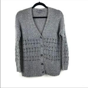 Vince Gray Grandpa Hand Knitted Cardigan XS
